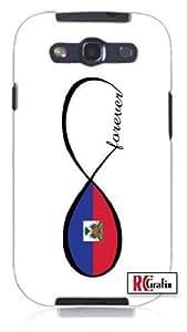Forever Infinity Haitian Haiti National Flag Unique Quality Rubber Soft TPU Case for Samsung Galaxy S3 SIII i9300 (WHITE)Kimberly Kurzendoerfer