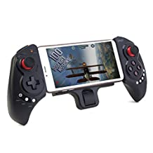 """COOLTECH® Extendable gamepad Game Controller Portable Bluetooth Wireless Gamepad Joystick Control for Android Phone and iOS iPhone 6 5S 5C 5 iPad 5 4 iPod, Supports Up to 10"""" Smartphone or Tablet PC"""