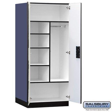 Designer Wooden Storage Cabinet in Blue