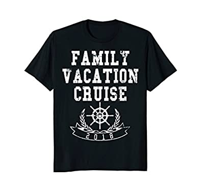 Distressed Matching Family Vacation Cruise 2018 T-Shirt Tee