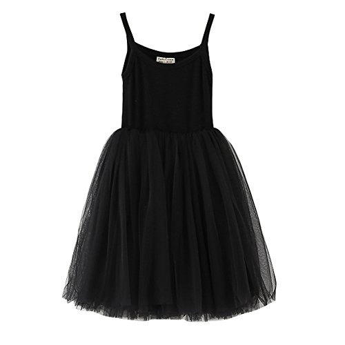 XUNYU Baby Girls Tutu Dress Sleeveless Infant Toddler Sundress Tulle Bubble 5 ()