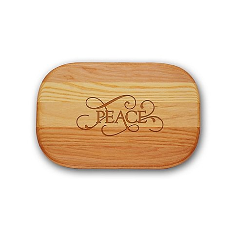 Carved Solutions Everyday Collection ''Peace'' 10-Inch x 7-Inch Cutting Board by Generic