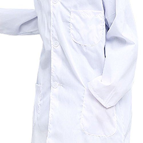 CLanItris America Kids Unisex Doctor Lab Coat for Scientist Role Play Costume Set - Soft Touch (X-Large,White) by CLanItris (Image #6)