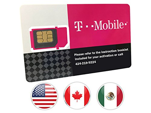 T-Mobile Prepaid SIM Card Unlimited Talk, Text, and Data in USA with 5GB Data in Canada and Mexico for 7 days (Best Prepaid Cell Phone Canada)