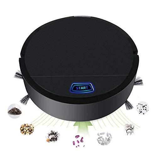 Smart Robot Vacuum Cleaner, Auto Floor Cleaning Automatic Robotic Vacuum Cleaner, Cleans Hard Floors to Medium-Pile Carpets Black