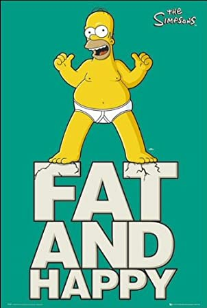 Los Simpson Fat and Happy Maxi pósterhttps://amzn.to/30fSd5u