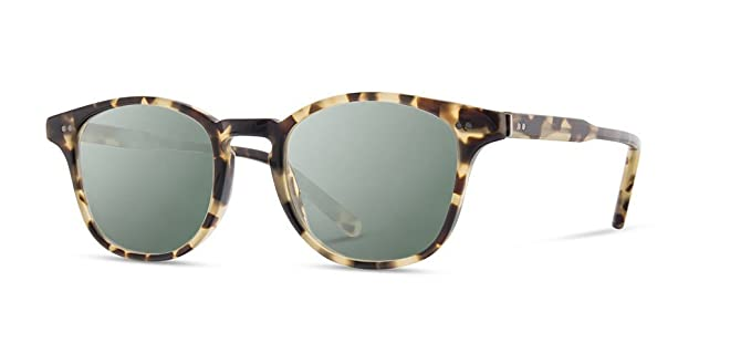 70711ae05a Amazon.com: Shwood - Kennedy Havana Round Acetate Sunglasses ...