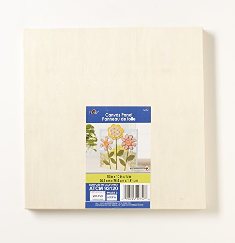 Plaid Wood Surfaces - Plaid Wood Canvas Panel (10 by 10-Inch), 12752