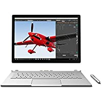 Microsoft Surface Book 256GB Intel Core i5-6300U X2 2.4GHz 13.5,Silver(Certified Refurbished)