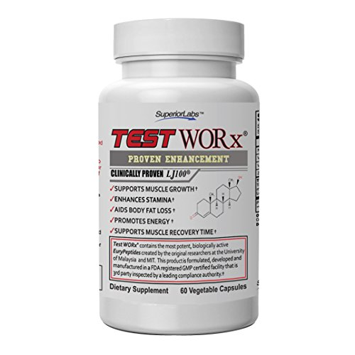 (Superior Labs TEST WORx Natural Testosterone Booster With Clinically Proven LJ100 and 8 Other Powerful Ingredients Delivers A Noticeable Increase In Energy, Stamina, Recovery and Better Sleep and Mood)