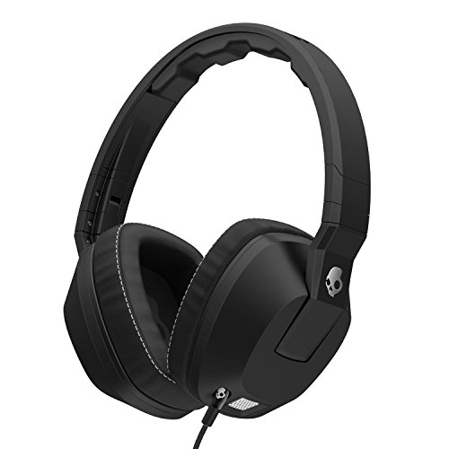 Skullcandy Crusher Headphones with Built-in Amplifier and Mic, Black Skullcandy Noise Cancelling Headphones