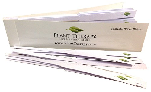Plant Therapy Essential Oil Fragrance Test Strips- book of 40 (Fragrance Testing Strips)
