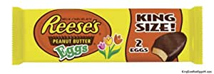 Reese's Easter Peanut Butter Eggs, King Size, 2.4-Ounce Packages (Pack of 12)