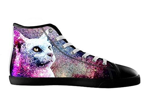 Mens Katter Galaxen Canvas Kängor Skor Katter Galaxen Canvas Shoes01