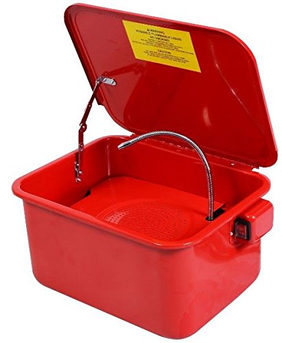 """(K&A Company Electric Parts Washer Solvent Pump Portable New 3-1/2 Gallon 120V/60HZ 17""""x13""""x9"""" Red)"""