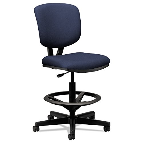 Hon Volt Task Stool- Upholstered Office Stool, Navy (H5705) by HON