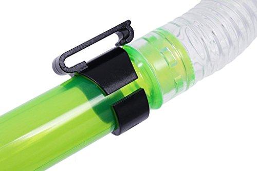 AMYMGLL Erwachsene Silikon Atemschutzgerät Tauchboot Tauchrohr Schnorchelrohr halbtrockene Atemstange halbe Stab Atemschutzmaske zufällige Haarstab Atemschutzmaske