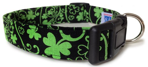 Adjustable Dog Collar in Shamrock Vines (Handmade in the U.S.A.)