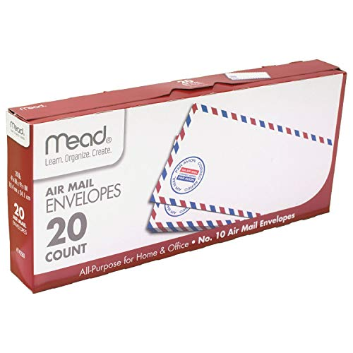 Mead #10 Airmail Envelopes, 20 Count (74260) ()