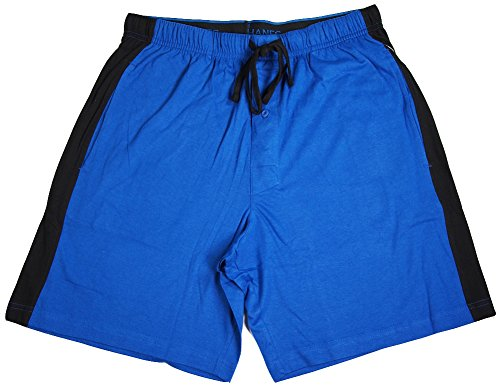 Hanes - Mens Jersey Knit Pajama Sleep Short, Blue, Navy 40052-Large