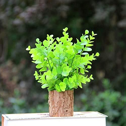 Zhuowei - Maceta de Madera Maciza enlatada con Forma de Flor de Madera jugosa de Madera Vintage con Corteza Natural Creativa Floral para decoracion del hogar Mesa pendulo Maceta Caja