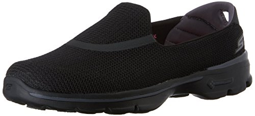 Skechers Performance Women's Go Walk 3 Slip-On Walking Shoe, Black, 6.5 M US (Skechers Shoes Black Women)