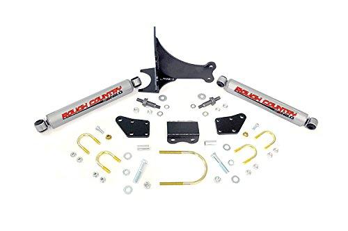Rough Country - 87491.20 - Dual Steering Stabilizer w/ Premium N2.0 Shocks