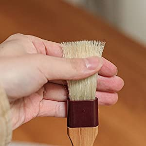 Pastry Brush Natural Bristle Wooden, MSART Basting/Food Brush, with Beech Wood Handle and Rope Hook, Great for Butter, Cookies, Oil, Bread, Frosting