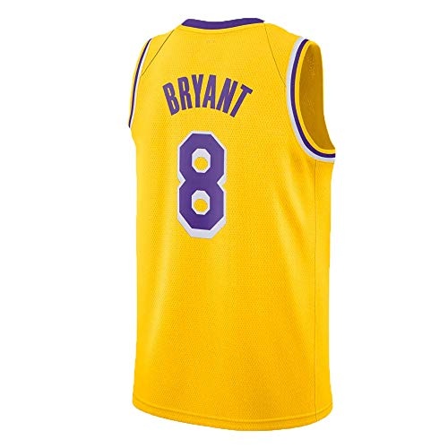 Kobe Bryant Basketball - INYANIDI Mens Kobe Jersey Los Angeles 8 Basketball Bryant(S-XXL) (XL, Yellow)