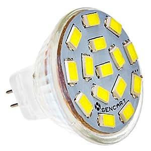 Leedfsw Ships in 24 hours MR11 4.5W 15x5730SMD 310-320LM 6000-6500K Cool White Light LED Spot Bulb (12-24V)