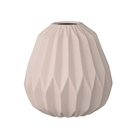 Bloomingville Fluted Ceramic Vase with Matte Nude Finish - Made with ceramic Sealed to hold water Wipe clean with a damp cloth - vases, kitchen-dining-room-decor, kitchen-dining-room - 41cSFu9HzGL. SS570  -
