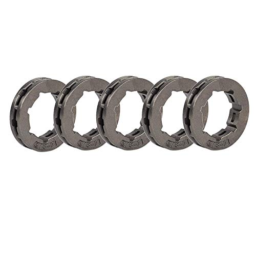Hippotech Pack of 5 Clutch Drum Rim Sprocket 3/8-7 Fits Husqvarna STIHL Chainsaw
