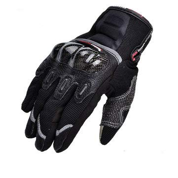 Motorcycle Motorcycle Gloves - Motorcycle Full Finger Gloves Touch Screen Carbon Fiber For Dirt Bike Racing Cycling MAD-03 - Red - 1 X Pair Of Full Finger Gloves