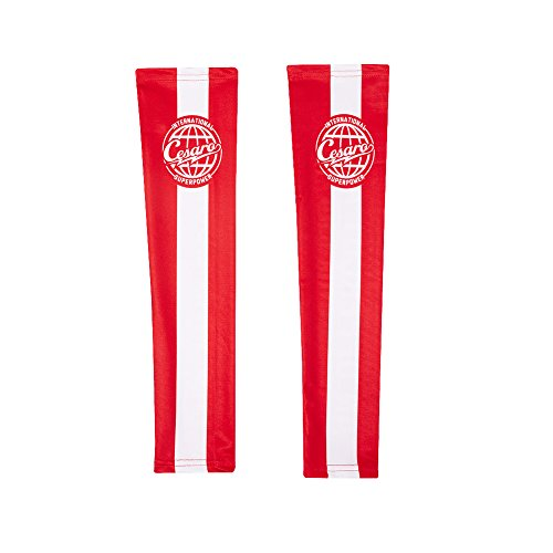 Cesaro The Professional Red Arm Sleeves Set of 2 WWE Authentic by WWE Authentic