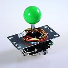 Sanwa JLF-TP-8YT-SK OEM Green Ball Handle Arcade Joystick 4 & 8 Way Adjustable (Mad Catz SF4 Tournament Joystick Compatible)