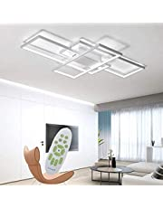 Jsz dimbare led-plafondlamp, moderne minimalistische lamp met afstandsbediening, creatieve verlichting van metaal en acryl, voor de woon- of slaapkamer en andere ruimtes