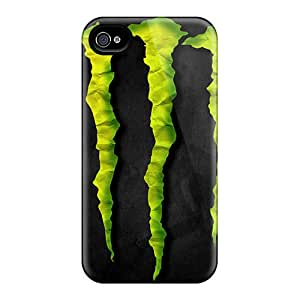 Protector Cell-phone Hard Cover For Iphone 4/4s With Customized Realistic Monster Image CharlesPoirier
