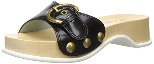 Marc Jacobs Mujeres Anita Leather Mule Clog Black
