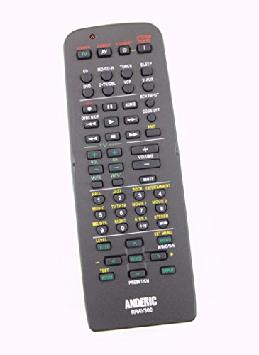ANDERIC RRAV300 Remote Control for Yamaha AV Receivers Replaces RAV300, HTR-5630, YHT-550, RX-V350, YHT-150, HTR-5730, YHT-550, DSP-AX340, DSP-AX440, YHT-670, YHT-740, RX-V557, RX-V559