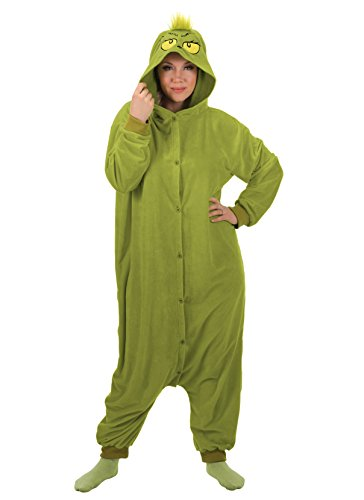 elope The Grinch Kigurumi Adult One Size ()