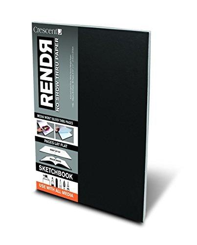 "Crescent Rendr No Show Thru Hardbound Sketchbook 8.5x11/""/"" 48 sheets"