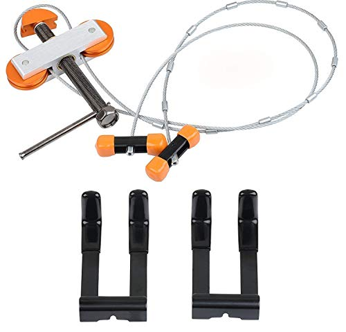 IVEKE Portable Hand Held Bow Press with 2 Quad Brackets for Compound Bow Archery (Portable Bow Press For Past Parallel Limbs)