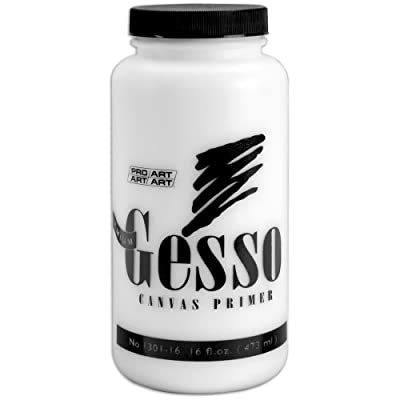 Pro-Art 16-Ounce Premium Gesso Canvas Primer