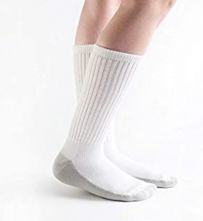 product image for Doc Ortho Ultra Soft Silver Diabetic Socks, 8 Pairs, Crew (White, Small)