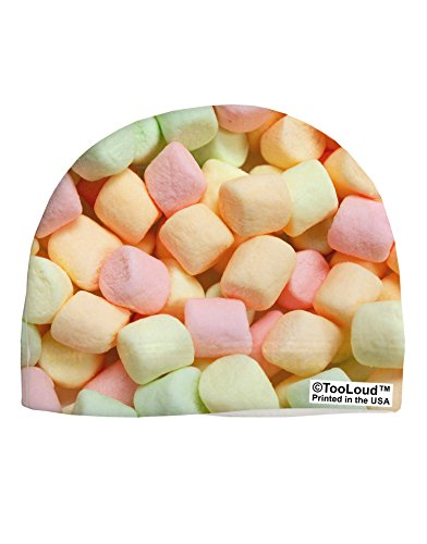 tooloud-marshmallows-all-over-adult-fleece-beanie-cap-hat-all-over-print