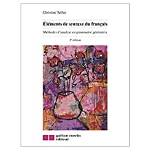 Éléments de syntaxe du français: Méthodes d'analyse en grammaire générative