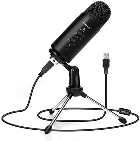 USB Condenser Recording Microphone for Computer: Zero Latency Monitoring Professional PC Mic Studio Cardioid Kit with Tripod Stand Great for Gaming | Podcasting | Streaming | Podcast | Skype (VC86)