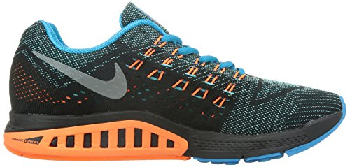 Nike Mens Air Zoom Structure 18 Running Shoes Bl Lgn/Mtllc Slvr/Ttl Orng/Blk