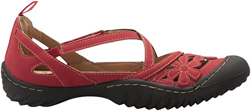 Jambu Flat Mary Blossom by Women's Vegan JBU Red Jane CqA5gwn