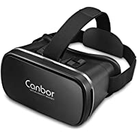 VR Headset, Canbor VR Goggles Virtual Reality Headset VR Glasses for 3D Video Movies Games for Apple iPhone, Samsung Sony HTC More Smartphones